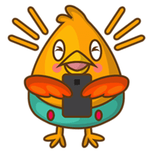 Cubie, the cute chubby chicken sticker #916516