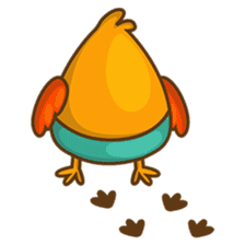 Cubie, the cute chubby chicken sticker #916517
