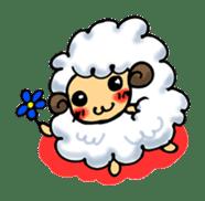 cotton sheep sticker #917120