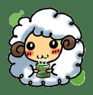cotton sheep sticker #917121