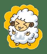 cotton sheep sticker #917122