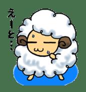 cotton sheep sticker #917123