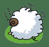 cotton sheep sticker #917124