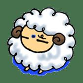 cotton sheep sticker #917127