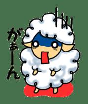 cotton sheep sticker #917130