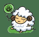 cotton sheep sticker #917132