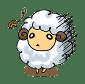 cotton sheep sticker #917133