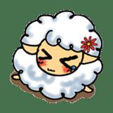 cotton sheep sticker #917135
