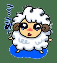 cotton sheep sticker #917136