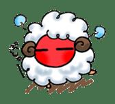 cotton sheep sticker #917137