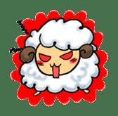cotton sheep sticker #917139