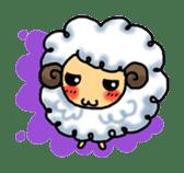 cotton sheep sticker #917140