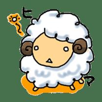 cotton sheep sticker #917141