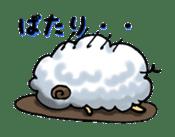 cotton sheep sticker #917142