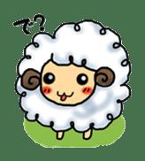 cotton sheep sticker #917143