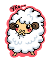 cotton sheep sticker #917144