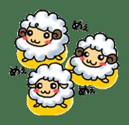 cotton sheep sticker #917145