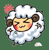 cotton sheep sticker #917146
