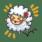 cotton sheep sticker #917147