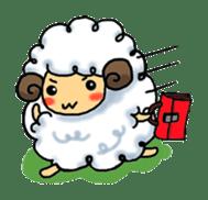 cotton sheep sticker #917149