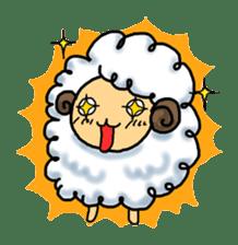 cotton sheep sticker #917150