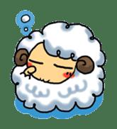 cotton sheep sticker #917151