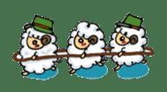 cotton sheep sticker #917153