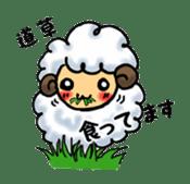 cotton sheep sticker #917156