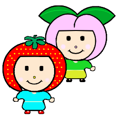 Happy smile sisters. strAwberry&Peach