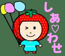 Happy smile sisters. strAwberry&Peach sticker #918171