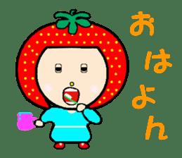Happy smile sisters. strAwberry&Peach sticker #918179