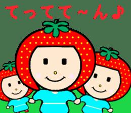 Happy smile sisters. strAwberry&Peach sticker #918181