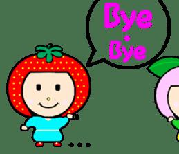 Happy smile sisters. strAwberry&Peach sticker #918190