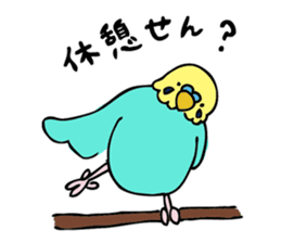 Japanese dialect bird sticker #919124