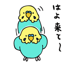 Japanese dialect bird sticker #919133