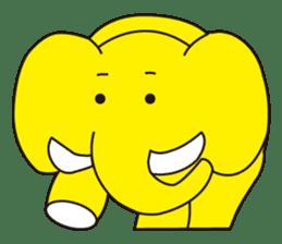 Mandai Yellow Elephant sticker #921319