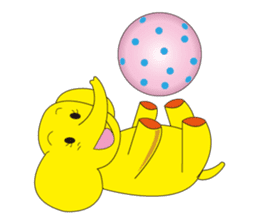 Mandai Yellow Elephant sticker #921323