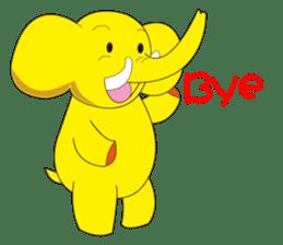 Mandai Yellow Elephant sticker #921338