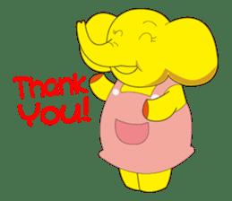 Mandai Yellow Elephant sticker #921339