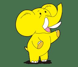 Mandai Yellow Elephant sticker #921352