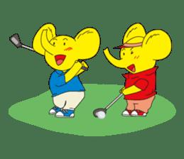 Mandai Yellow Elephant sticker #921358