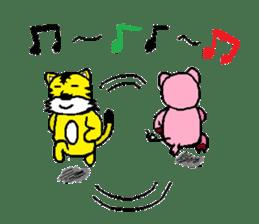 Neet Tiger and Neet Pig sticker #924956