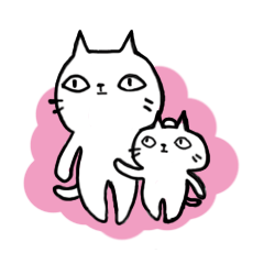 Sometimes cats and kittens sticker