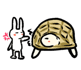 Pate & Pany(Rabbit & turtle/English) sticker #925379