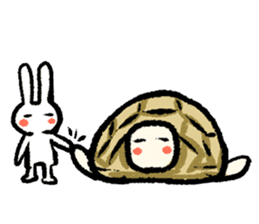 Pate & Pany(Rabbit & turtle/English) sticker #925382