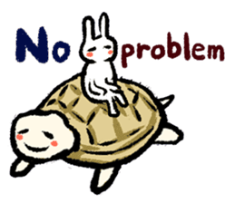 Pate & Pany(Rabbit & turtle/English) sticker #925390