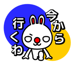 Red nose and one eyebrow rabbit sticker #926047