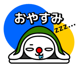 Red nose and one eyebrow rabbit sticker #926078
