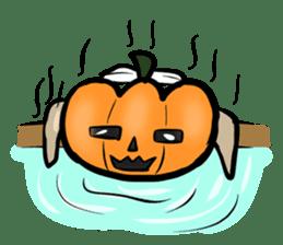 Pumpkin dog(English version) sticker #926322