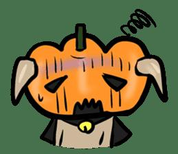 Pumpkin dog(English version) sticker #926324